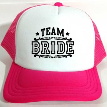 Boné Trucker Team Bride Noivas Casamento
