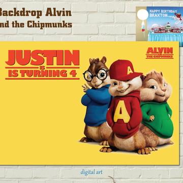 Painel IMPRESSO Alvin e os Esquilos GOLD