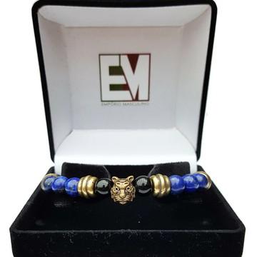 Pulseira Tigre Indiano Lapis Lazuli