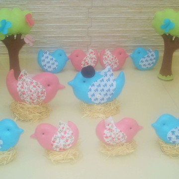 Kit passarinhos para decoração