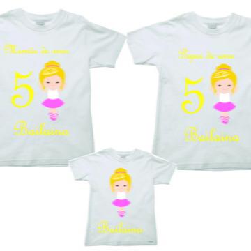 Camisetas Personalizadas Kit Aniversario Bailarina 3
