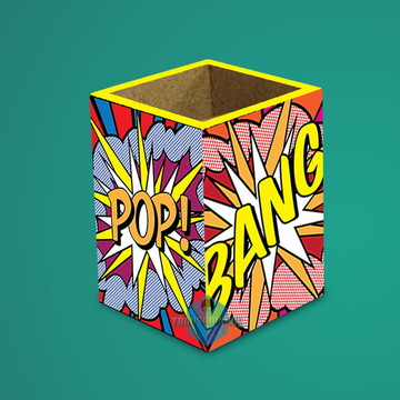 Porta Lápis Pop Art / Presentes Criativo