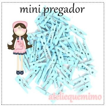 mini pregador azul