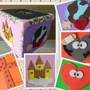 Caixa cubo história infantil ou bíblica