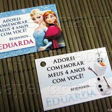 Tag Lembrancinha Aniversário - Frozen