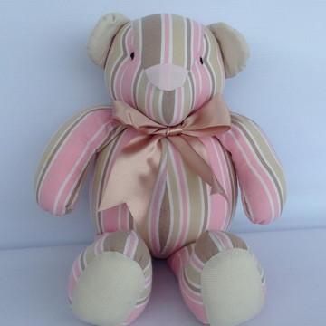Ursinho Bege e rosa listras 1