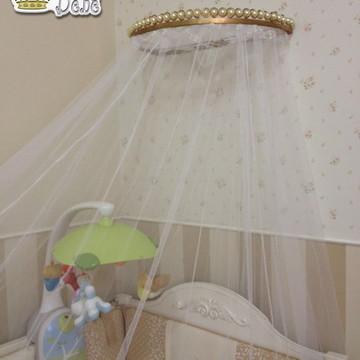 Dossel para mosquiteiro cortinado berço de bebe