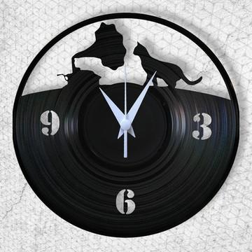 Gato & Gramofone - Relógio de Parede