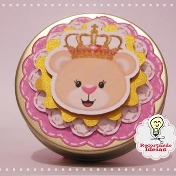 Latinha Luxo Ursa Princesa