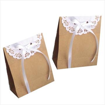 Sacola mini com papel rendado