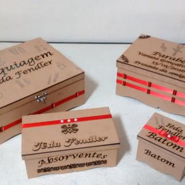 Conjunto de caixas em MDF