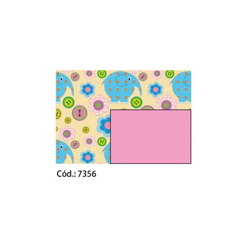 Papel Cartão 250g c/10FLS 65x47 #7356