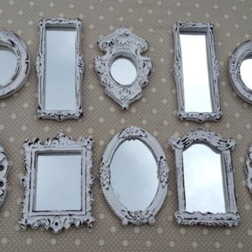Kit 12 Mini Espelhos Provençal