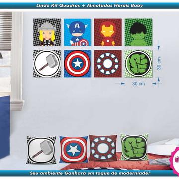 Quadros Heróis + Almofadas - Avengers