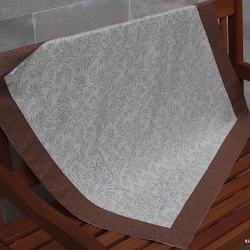 Toalha de mesa arabesco marrom