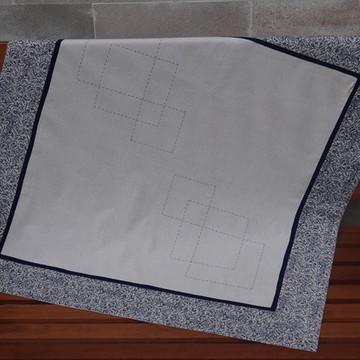 Toalha de mesa folhas azuis