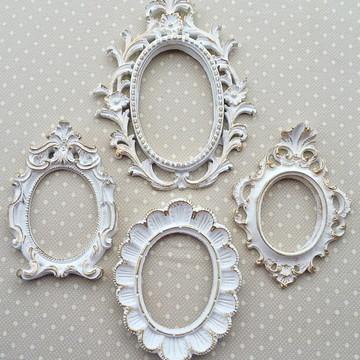 Kit 4 Espelhos Ouro Provençal