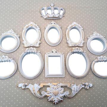 Kit 10 Espelhos Ouro Provençal
