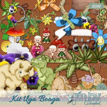Kit Scrapbook Digital Uga Booga