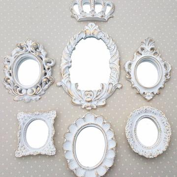 Kit 6 Espelhos Ouro Provençal