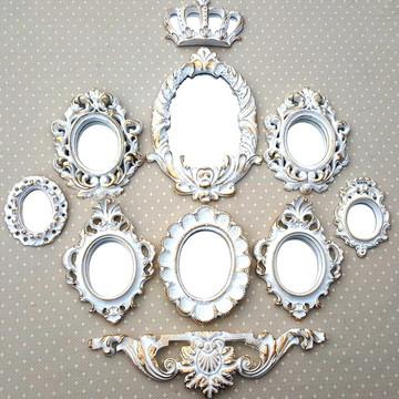 Kit 8 Espelhos Ouro Provençal