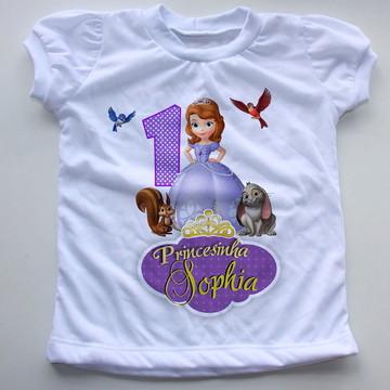 Blusinha personalizada Princesa Sofia