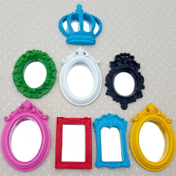 Kit 7 Espelhos Decorativos Coloridos