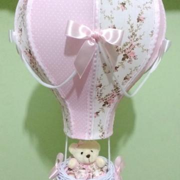 Lustre balão luminária infantil floral personalizado Sophia