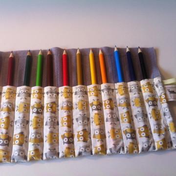Estojo lápis de cor