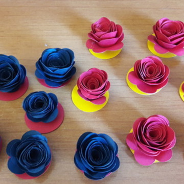 Flores de papel para Alpino
