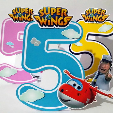 Super Wings Super Enfeite de Mesa Varios