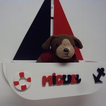 Barco porta maternidade urso marinheiro