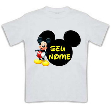 Camiseta Infantil Mickei com Nome