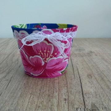 Vaso decorado com chita