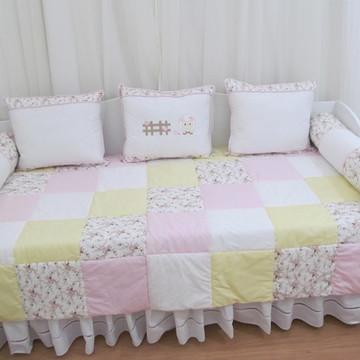 Kit cama auxiliar ovelhas 6 peças