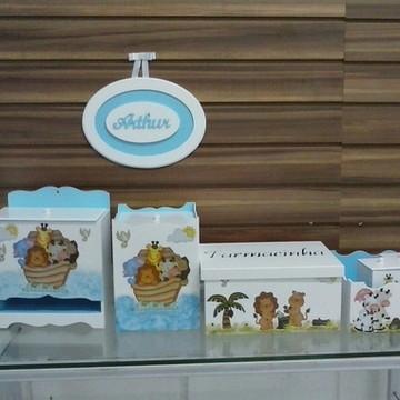 Kit higiêne bebê Animais Arca de Noé