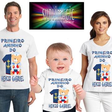 Kit 3 Camisetas Ursinho Marinheiro