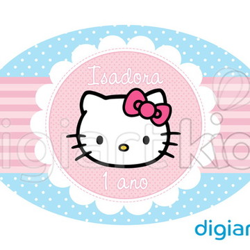 Placa Painel para Decoração Festa Hello Kitty