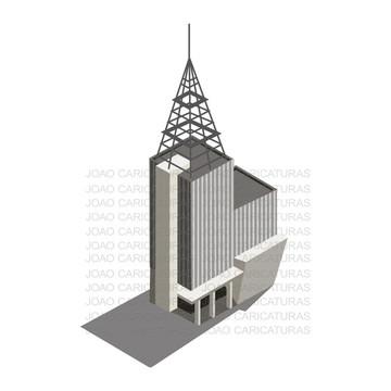 Desenho digital de prédios Históricos e Pontos turísticos