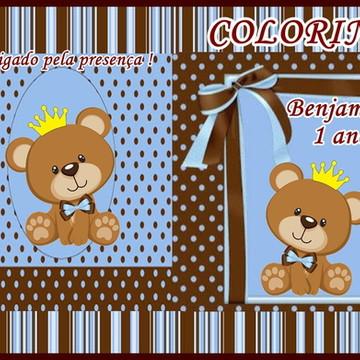 Kit de colorir Urso Rei