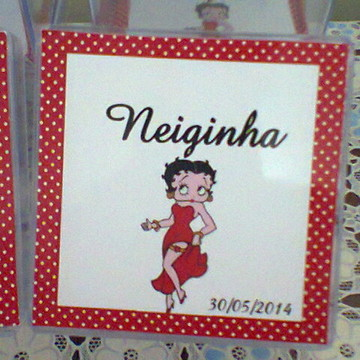 Adesivo para Caixa Acrilica Betty Boop