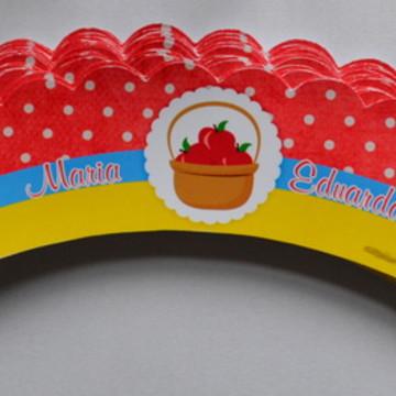 Saia para mini cupcake Branca de Neve