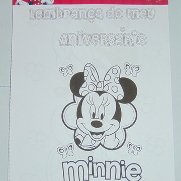 Bloco de Colorir da Minnie 15x20 cm