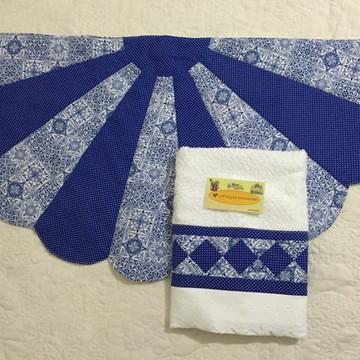 Kit tapete e toalha de rosto/lavabo