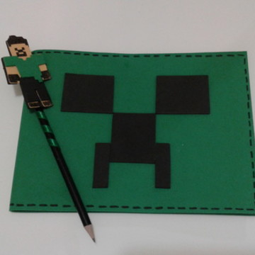 Caderno de desenho MineCraft