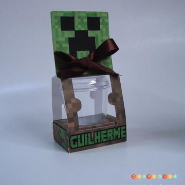 Porta potinho de brigadeiro Minecraft