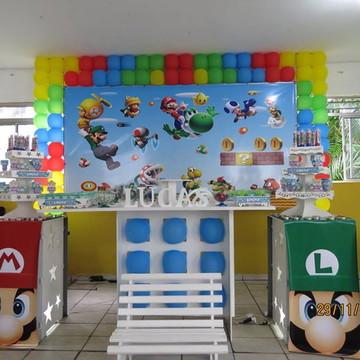 Painel Mario para Eventos e Aniversarios