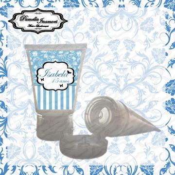 Rótulo Bisnaga Plastica Azul Turquesa