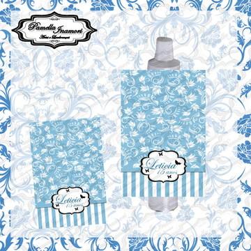 Rótulo Bisnaga 30g Azul Turquesa