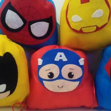 Sacolinha Super Heróis
